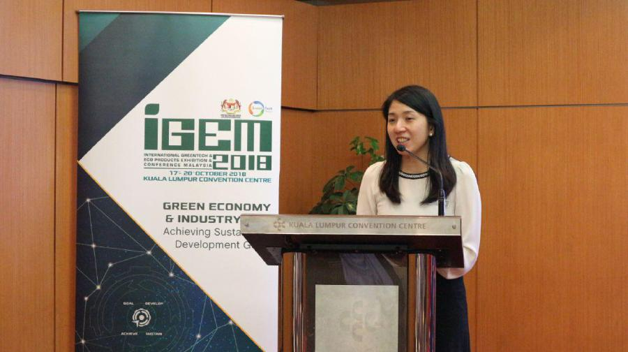 Energy, Science, Technology, Environment and Climate Change Minister Yeo Bee Yin said IGEM had established itself as Southeast Asia's largest trade event for green technologies and eco-solutions. (Photo courtesy of IGEM)
